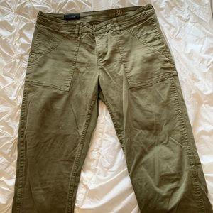 J crew army green skinny pants